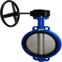 Resilient seated wafer butterfly valve